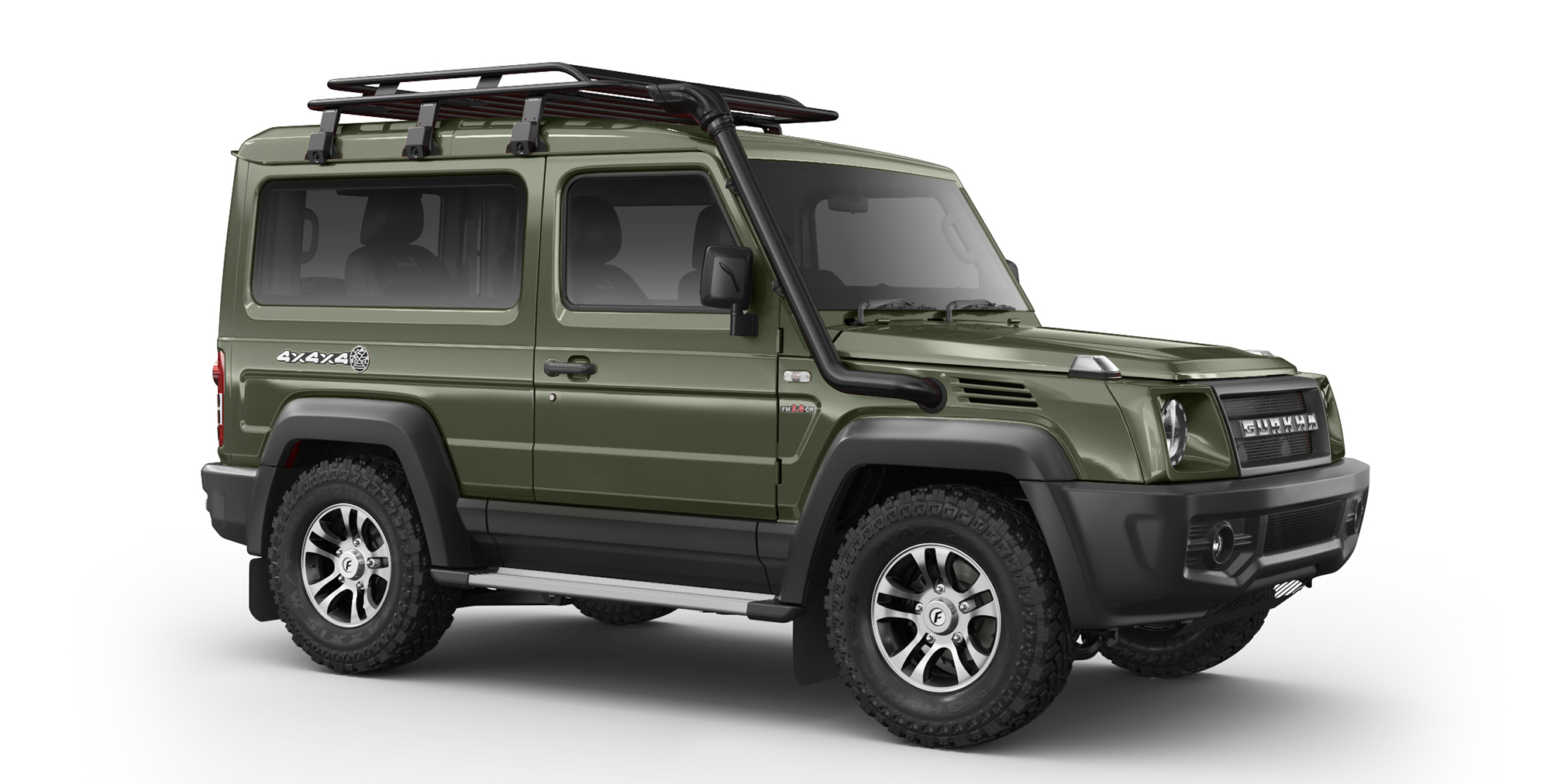 Green Gurkha 4x4x4 with Alloy Wheels and AT Tyres