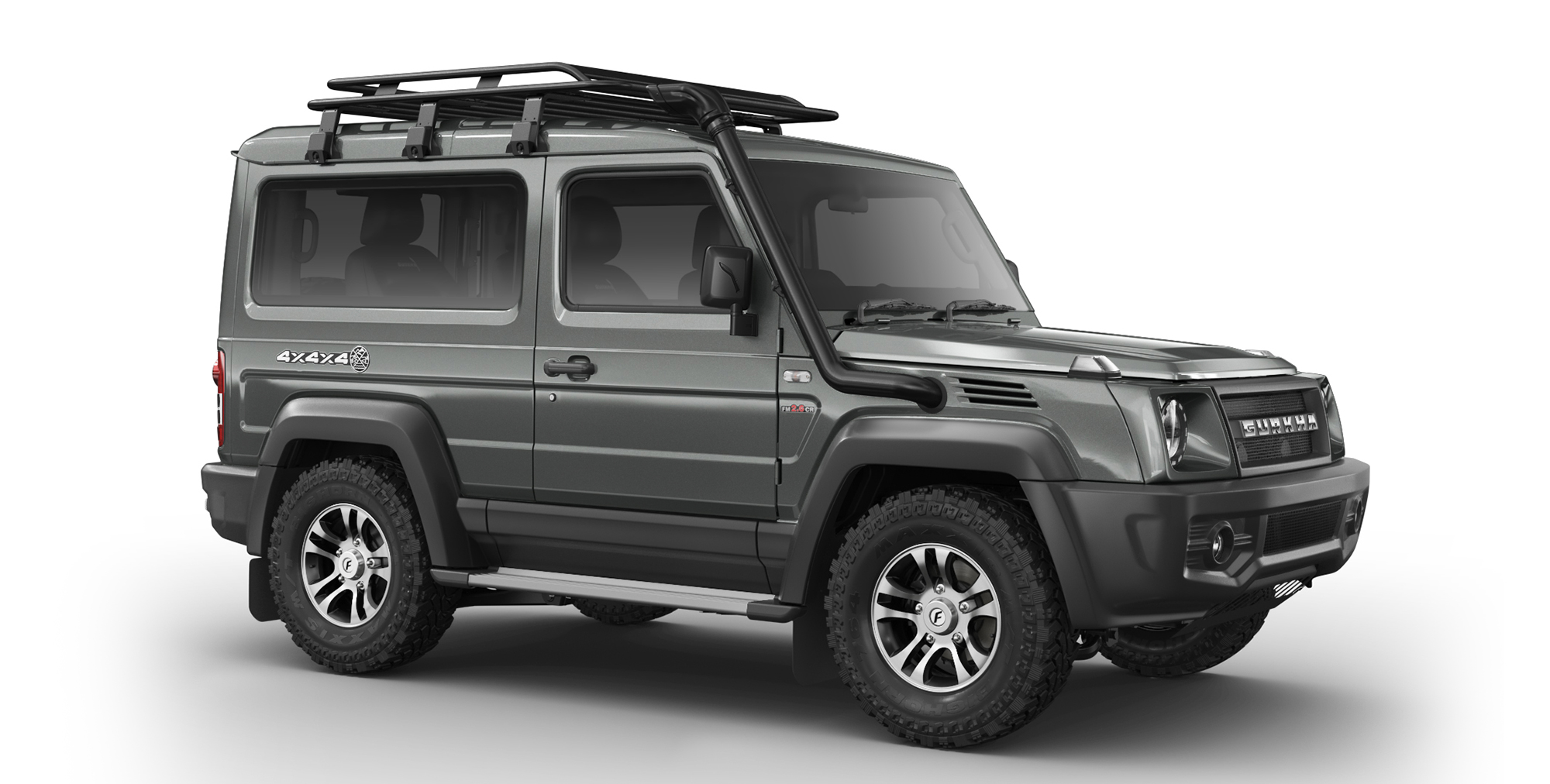 Grey Colour Force Gurkha 4x4x4 with Alloy Wheels and AT Tyres