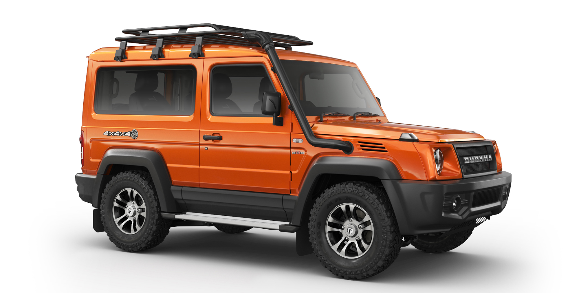 Orange Gurkha 4x4x4 with Alloy Wheels and AT Tyres