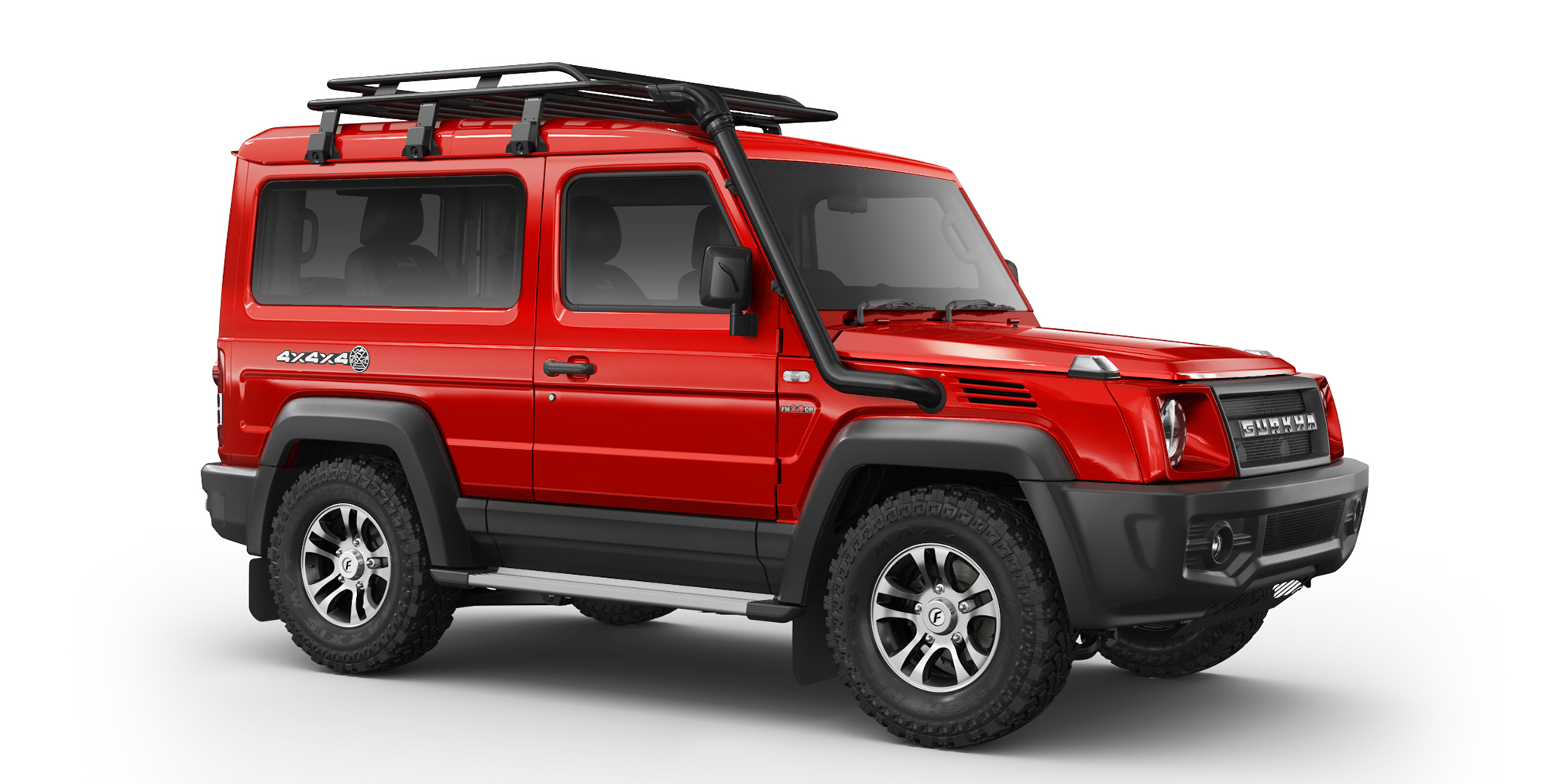 Red Colour Force Gurkha 4x4x4 with Alloy Wheels and AT Tyres