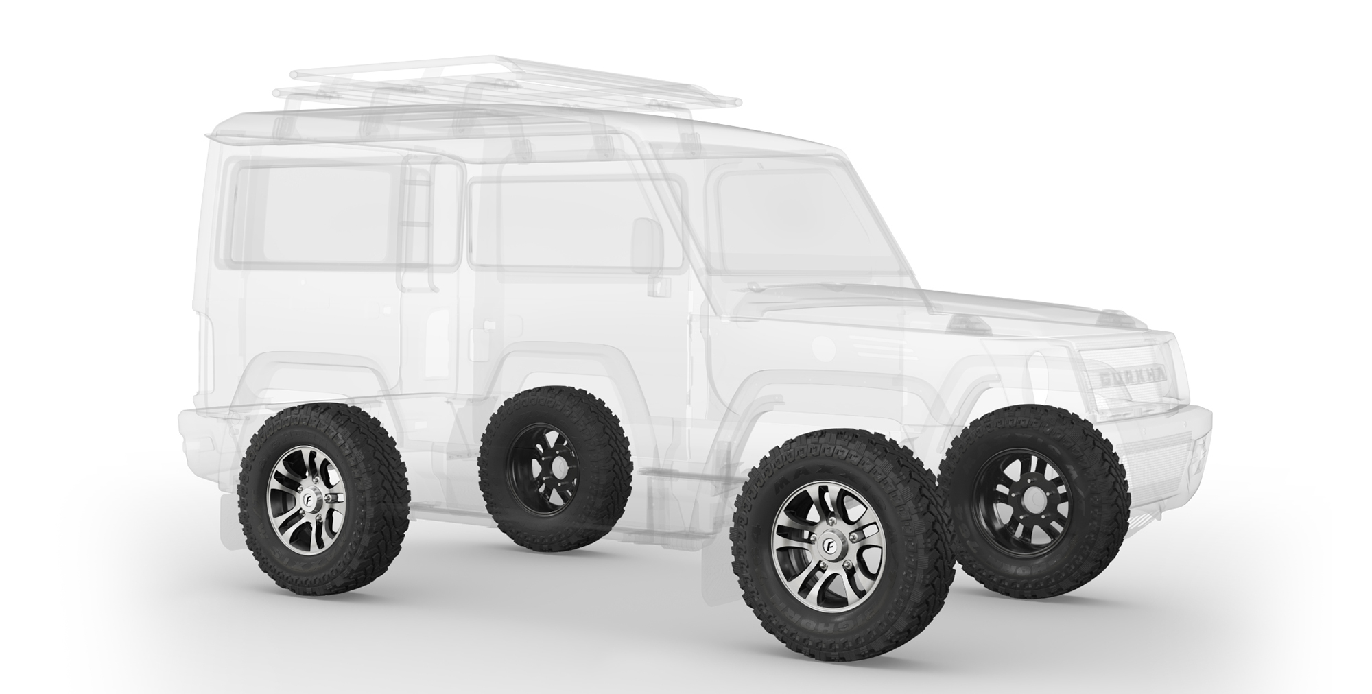 2021 Force Gurkha 4x4x4 with Alloy Wheels and AT Tyres