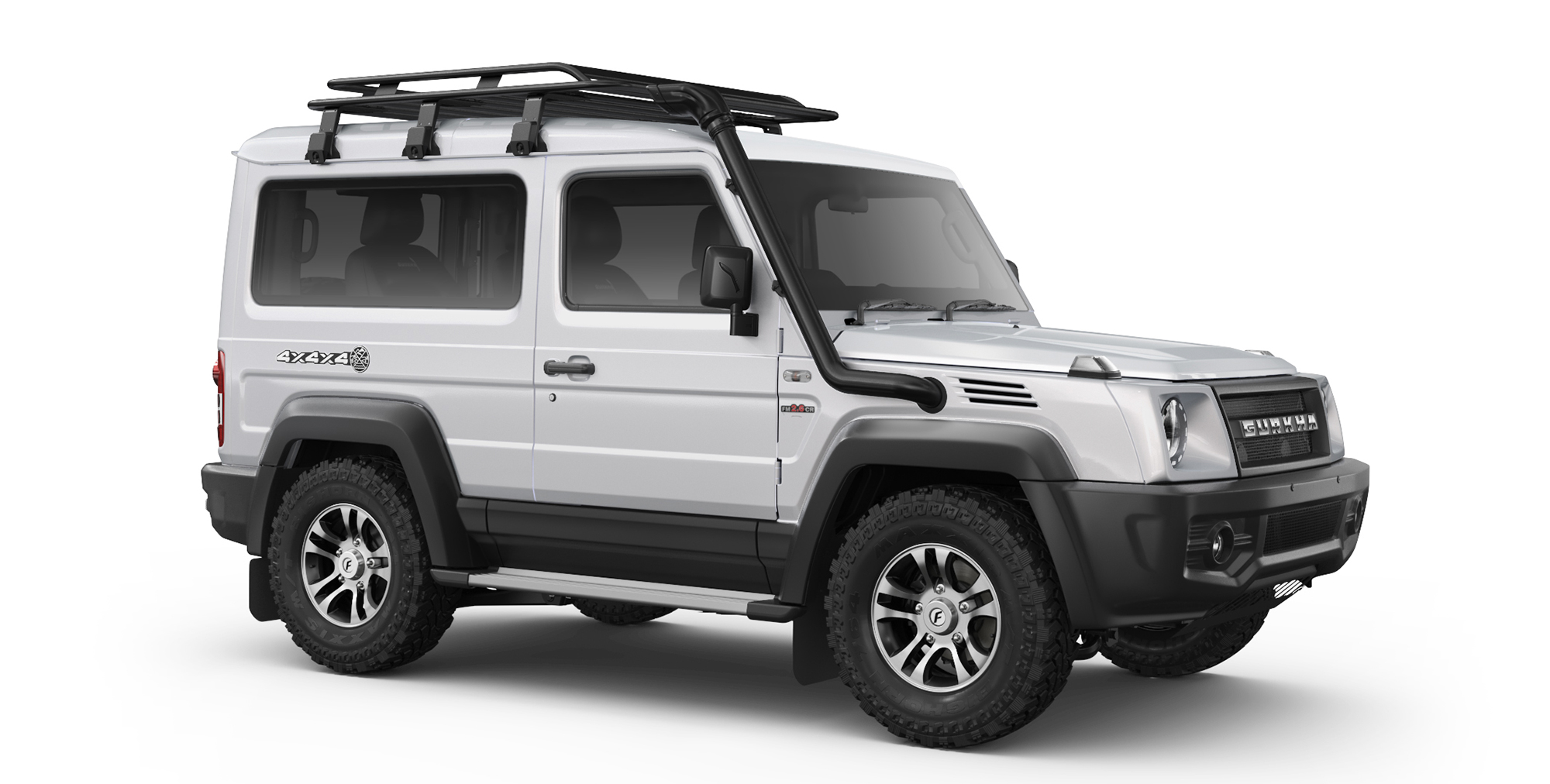 White Colour Force Gurkha 4x4x4 with Alloy Wheels and AT Tyres