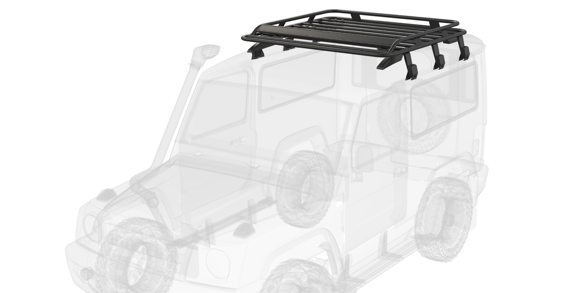 Force Gurkha 2021 4x4x4 off road car with Roof Carrier
