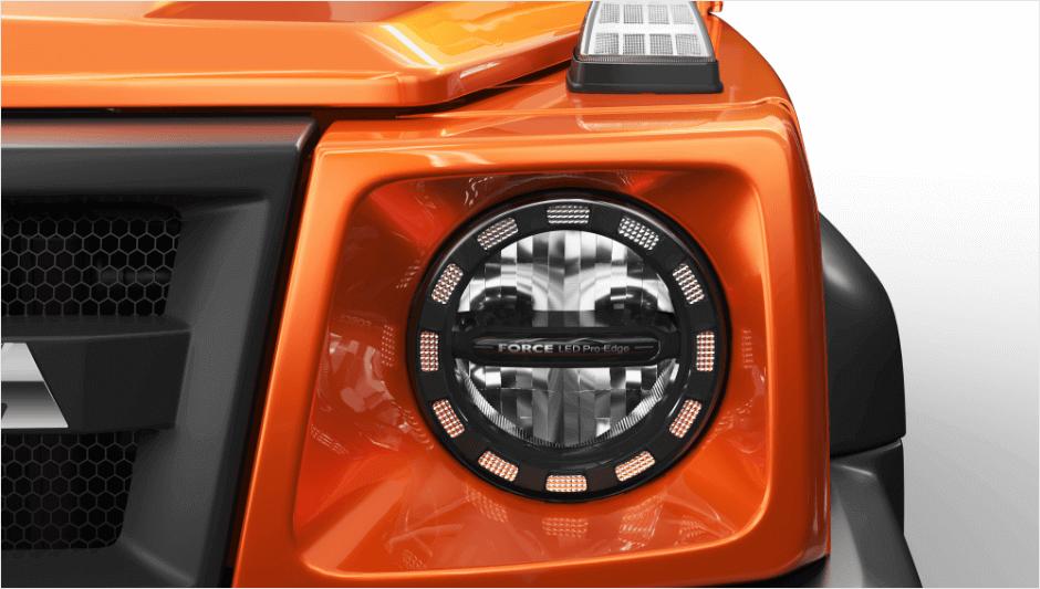 Gurkha 4wd Car with The Force LED Pro Edge Headlamps