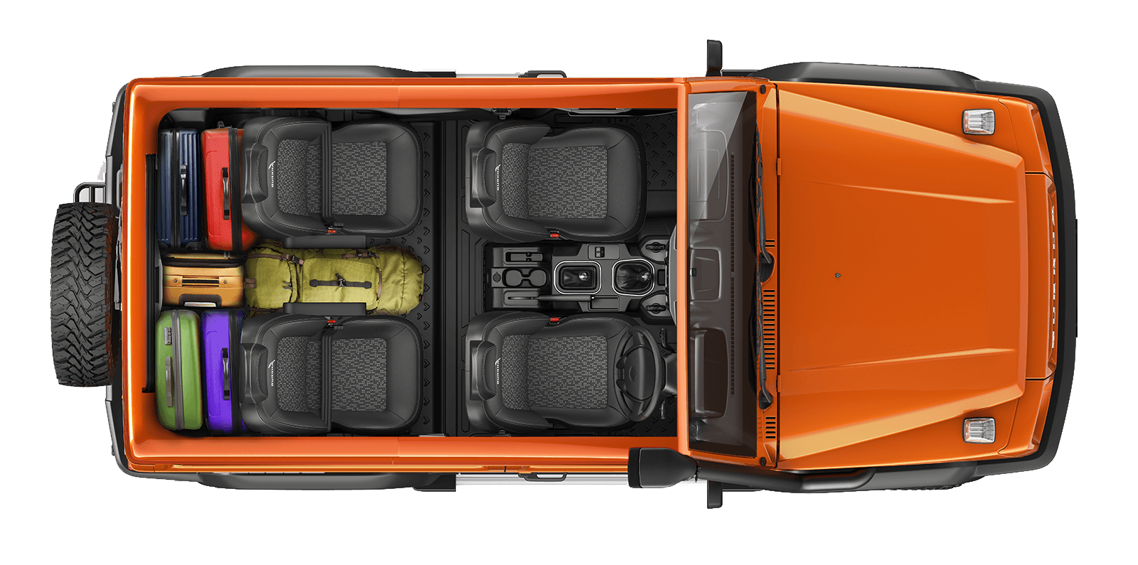 Force Gurkha 2021 Cabin and Boot Space